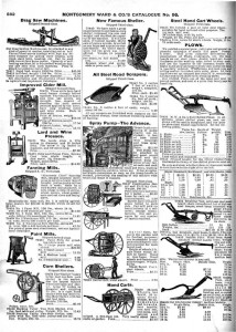 Montgomery Ward Catalog Page