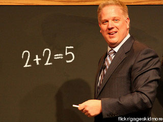 Glenn Beck Chalkboard, 2+2=5