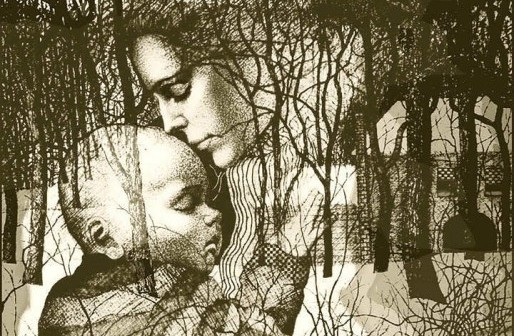 Mother, Child, Nature Art