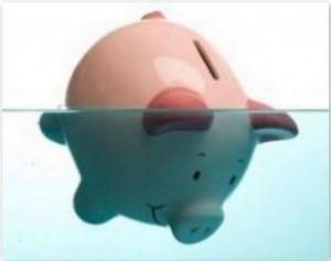 Sinking Piggy Bank