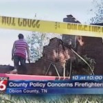 Obion House Burns While Firemen Watch