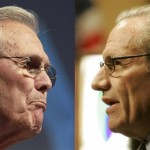 Don Rumsfeld and Bob Woodward