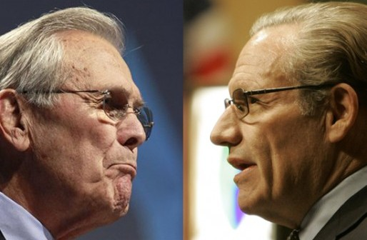 Don Rumsfeld and Bob Woodward