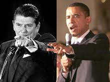 Reagan and Obama Pointing