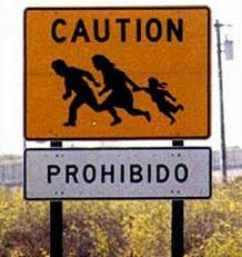 Illegal Alien Crossing Sign