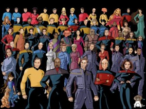 Caricatures Of Star Trek's Many Main Characters