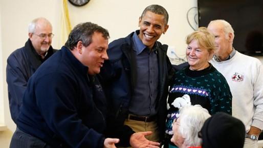 President Barack Obama and Governor Chris Christie