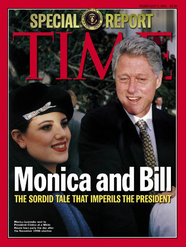 Monica and Bill CLinton