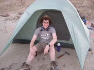 This is me at our camp site right after setting it up on the 23rd.