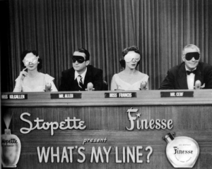The panelists on What's My Line?
