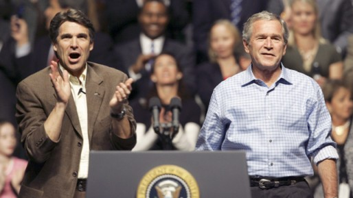 Rick Perry and George W Bush