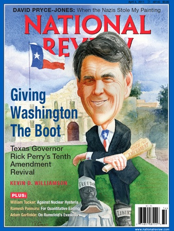 Rick Perry from a National Review cover.