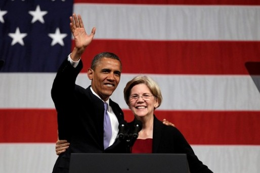 President Obama and Elizabeth Warren