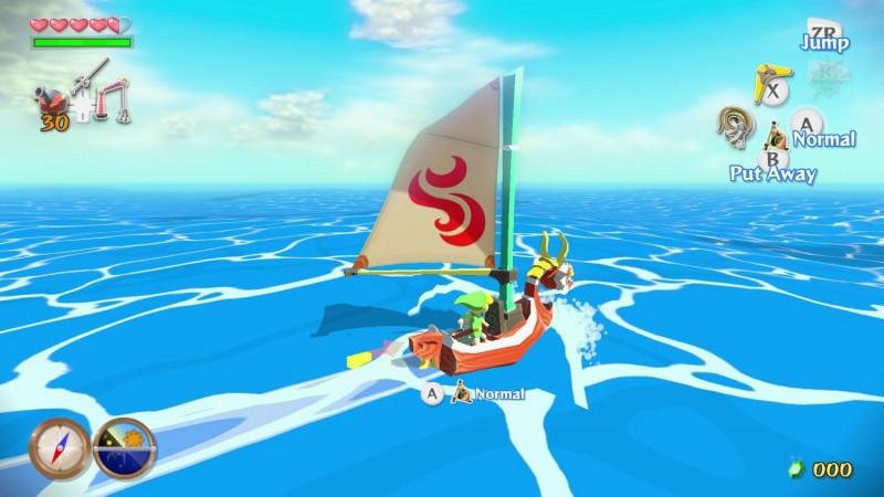 Sailing in The Wind Waker HD
