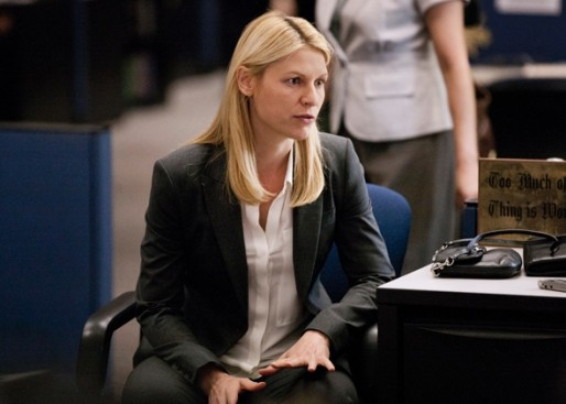 Claire Danes as Carrie Mathison in the Homeland Season 3 Premiere