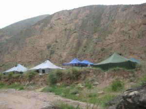 Our campsite in the mountains outside of Lanzhou