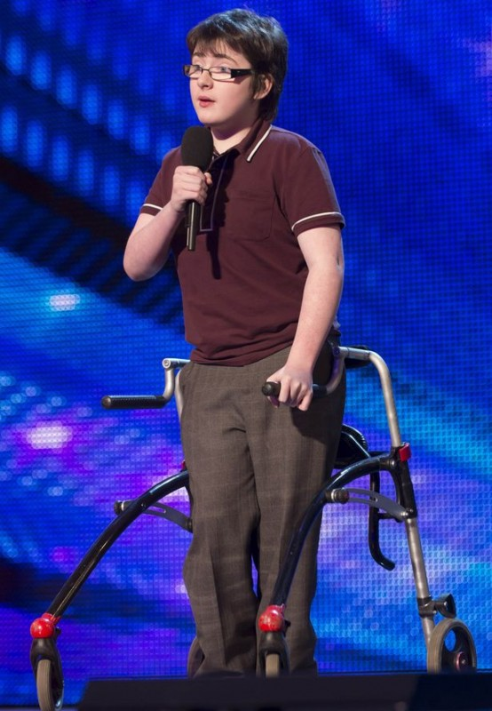 Jack Carroll, a 14-year-old cerebral palsy patient, performs his comedy act on Britain's Got Talent