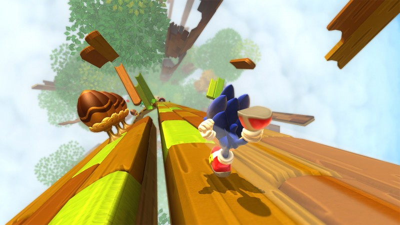 Sonic moving fast