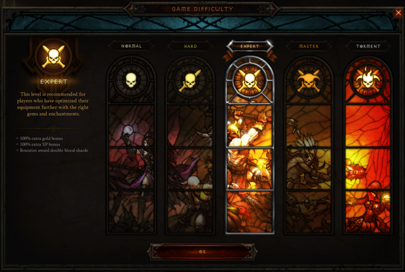 Diablo III difficulty changes