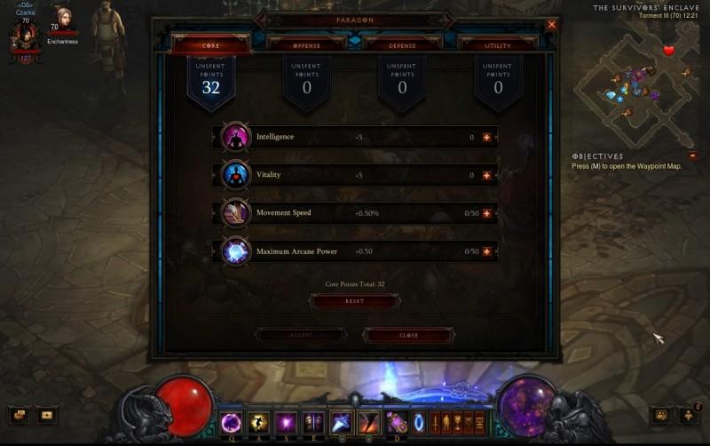 Diablo III Paragon system