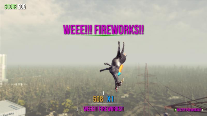 Goat fireworks