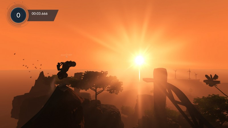 Beautiful sunrise stage in Trials Fusion