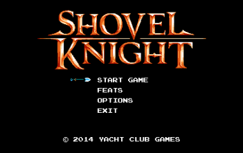 Shovel Knight Title Screen