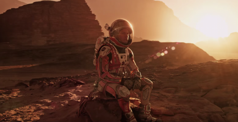 The Martian Movie Shot