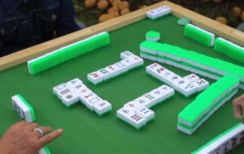 Mahjong Table and Tiles